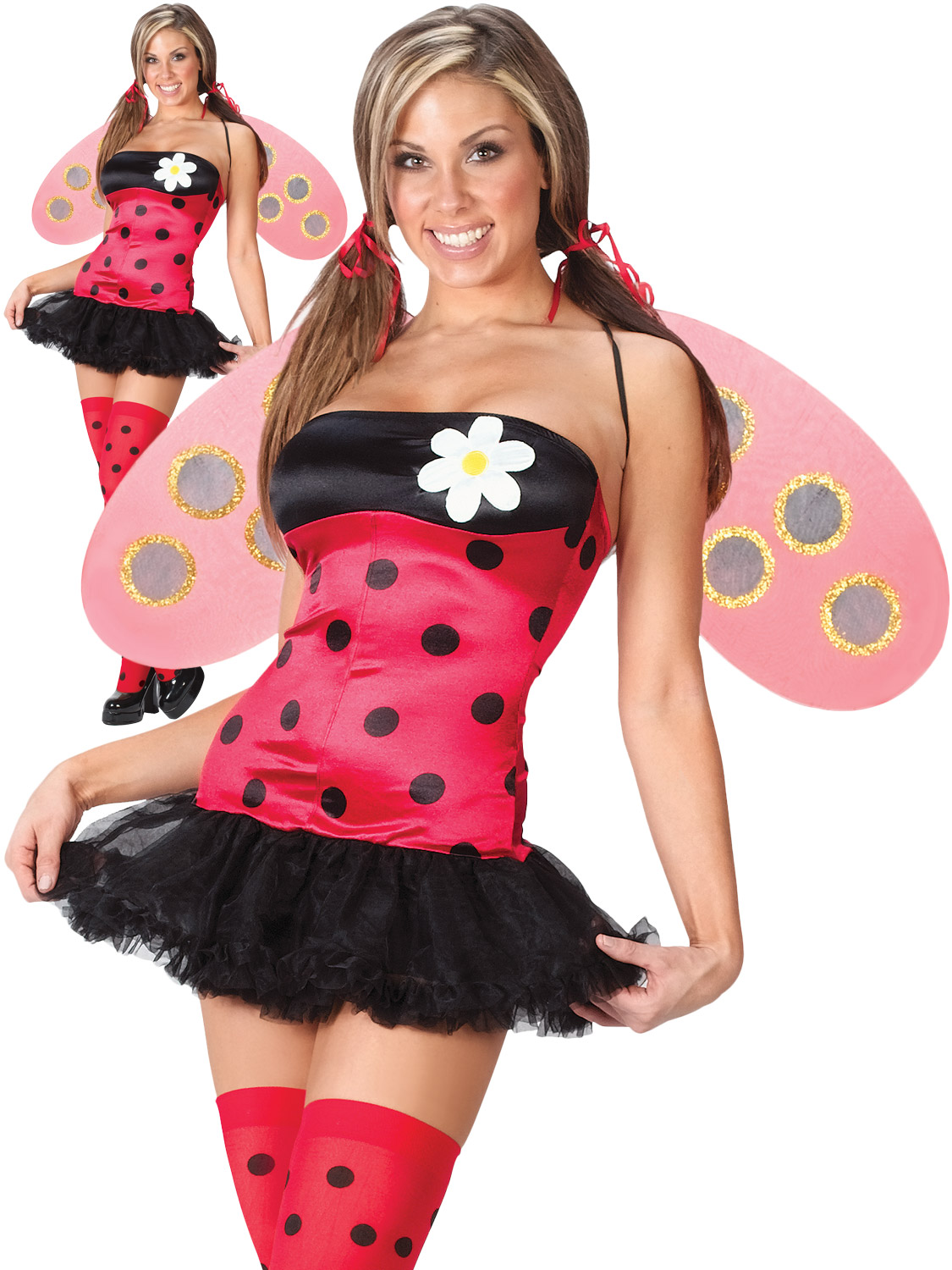 Ladies leggy ladybird costume adult sexy insect fancy dress women transform yourself into a sexy ladybug with this ladies ladybird costume its perfect if youre going to an animal insect themed party solutioingenieria Images