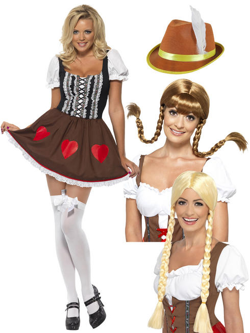 Ladies Oktoberfest Heidi Costume Bundle