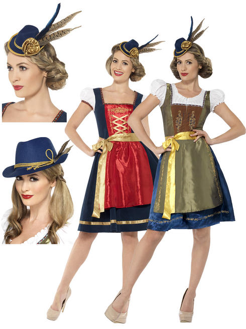 Ladies Deluxe Bavarian Costume & Hat