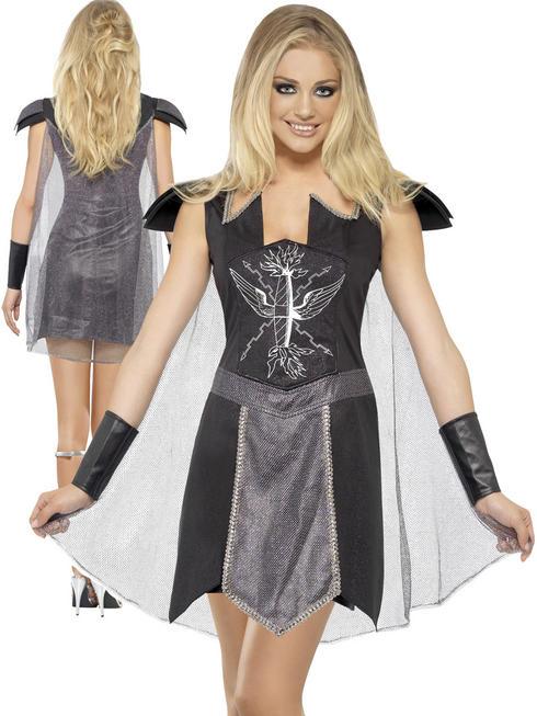 Ladies Fever Dark Warrior Costume