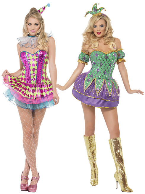 Ladies Fever Harlequin Costume