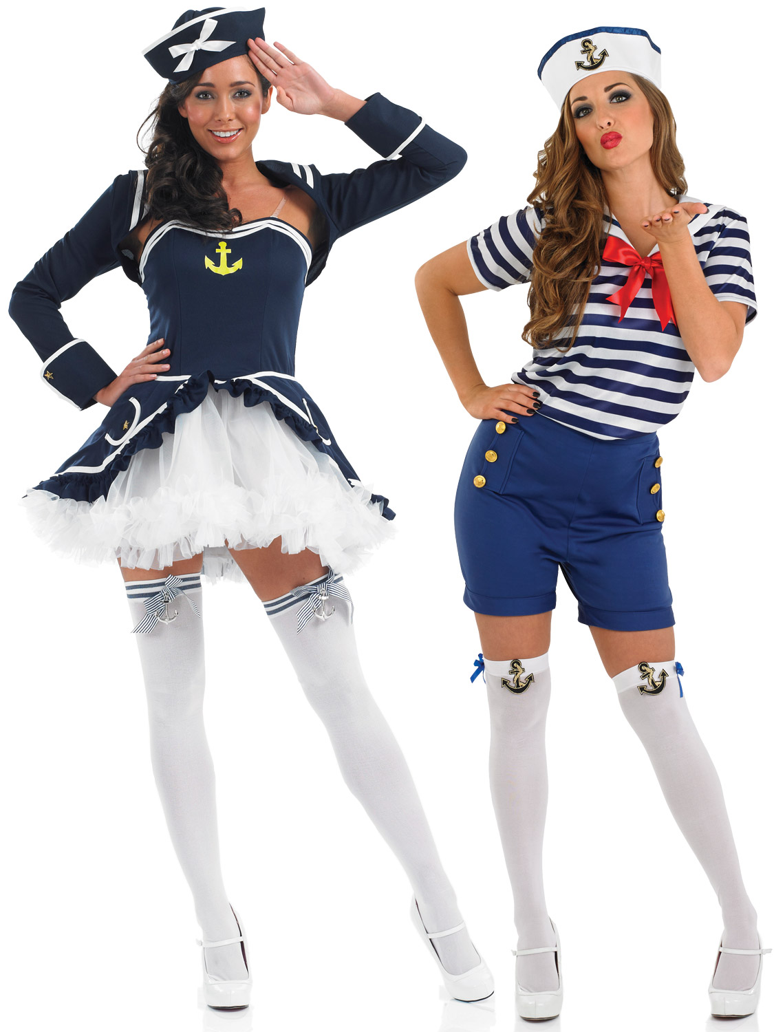 Ladies sassy sailor girl costume adult navy fancy dress womens transform yourself into a sailor girl with either of these ladies sailor fancy dress costumes solutioingenieria Images