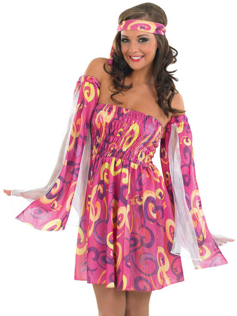 Ladies 60s Swirl Dress