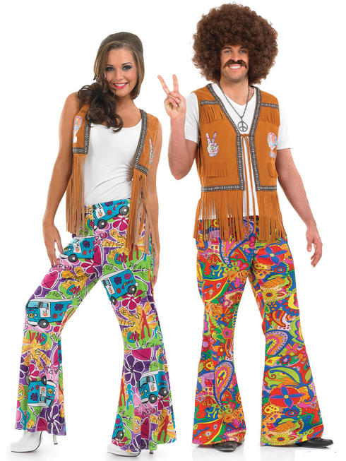 Adults 60s Psychedelic Flares