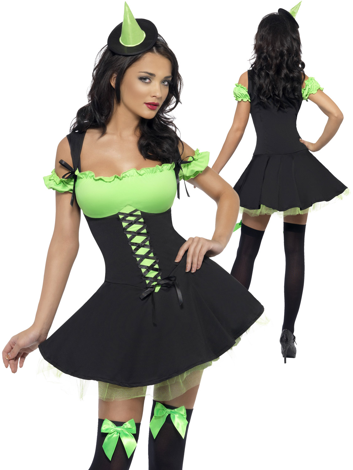 This ladies Fever Wicked Queen costume is perfect if your dressing up as a Witch this year for Halloween.  sc 1 st  eBay & Lades Fever Wicked Witch Costume Adult Halloween Fancy Dress Sexy ...