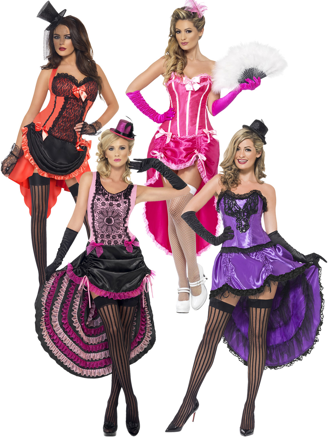 Ladies burlesque costume adults can can fancy dress womens 1920s transform yourself into a beautiful burlesque dancer with these ladies 1920s style can can costumes solutioingenieria Images