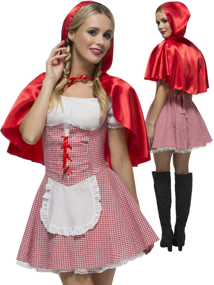 Ladies Ladies Fever Red Riding Hood Costume Adult Sexy Book Week Fancy Dress Fairy Tale