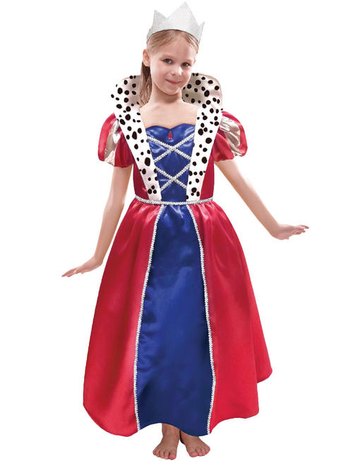 Girl's Queen Costume & Crown