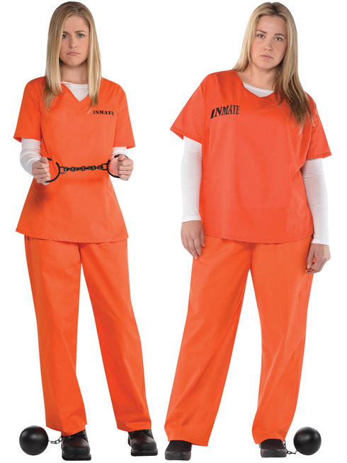 Ladies Orange Inmate Costume