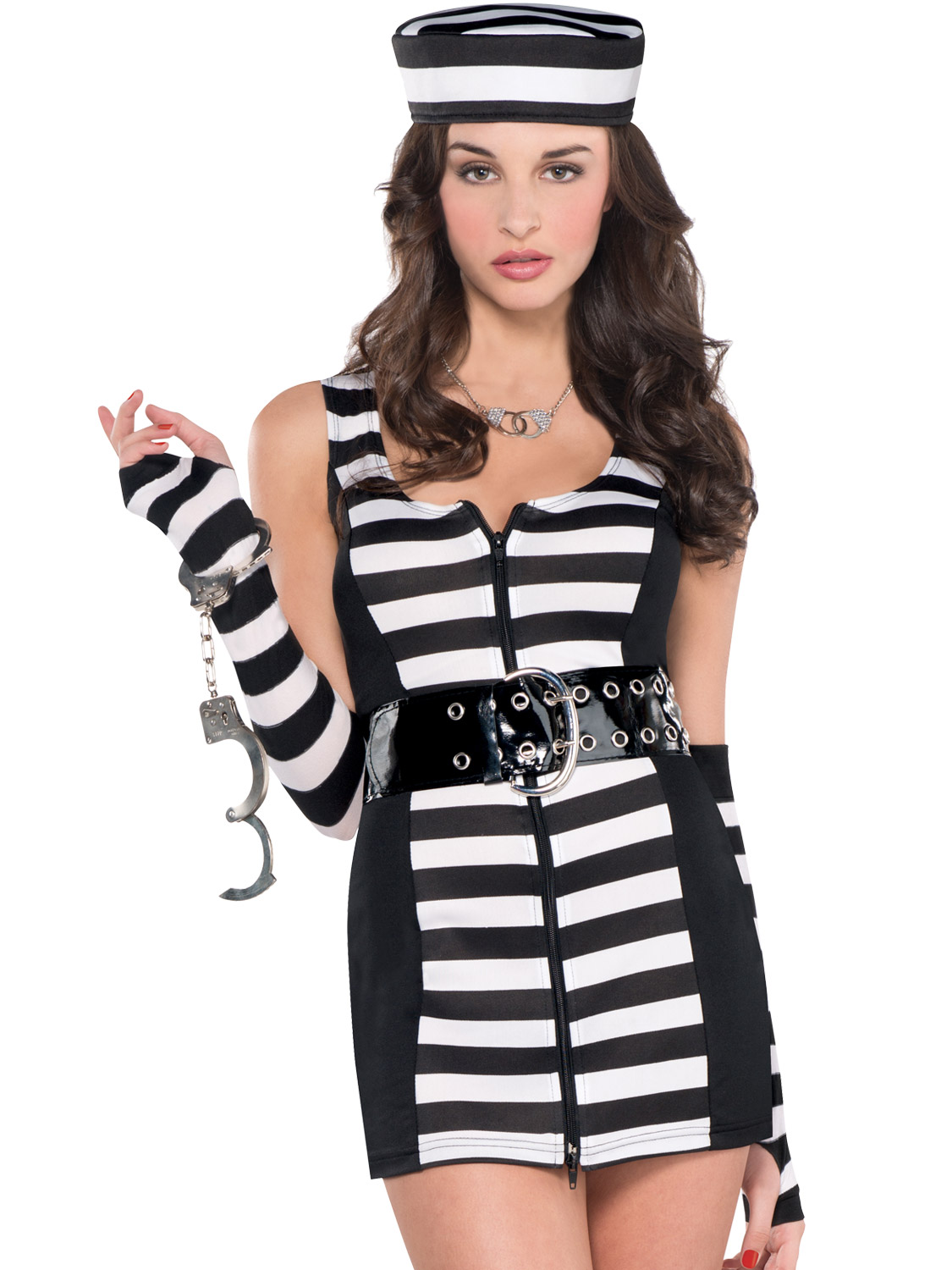 Ladies prisoner costume womens convict fancy dress sexy guilty as transform yourself into a sexy convict with this ladies guilty as charged prisoner costume solutioingenieria Choice Image