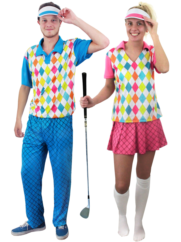 Adult Pub Golf Costume Men Ladies Golfer Fancy Dress Sport Hen Stag ... 591791f2ec