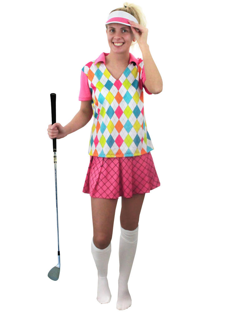 Adult S Golfer Costume All Ladies Fancy Dress Hub