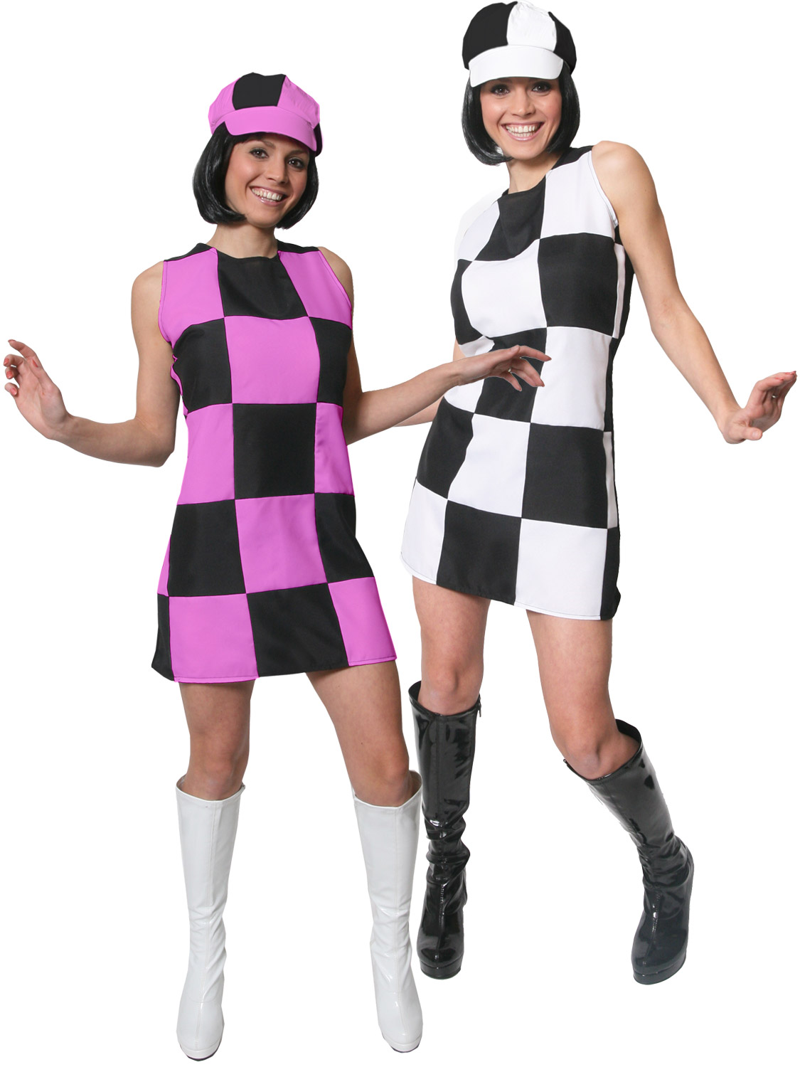 Ladies 1960s Party Girl Costume Adults Swinging 60s 70s Retro Fancy Dress Outfit Ebay