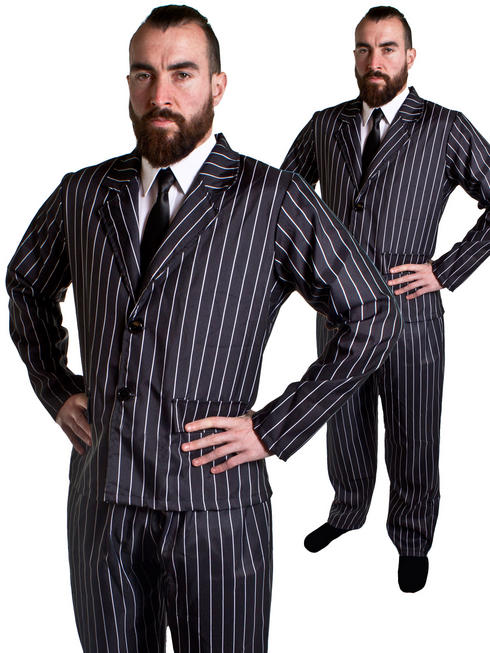 Men's 1920s Pinstripe Gangster Suit