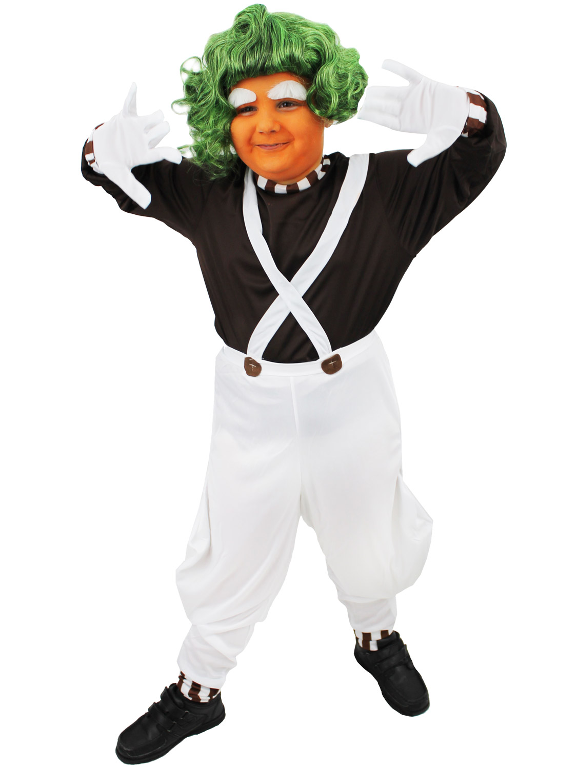 Image 3  sc 1 st  eBay & Childrens Oompa Loompa Costume Boys Girls Charlie Chocolate Factory ...