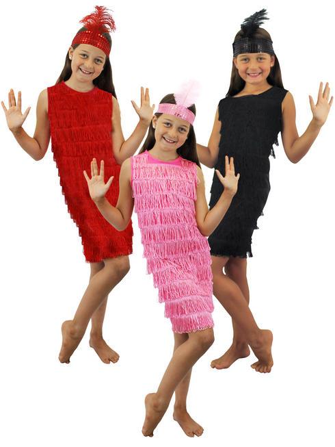 Girl's Fringed Flapper Dress