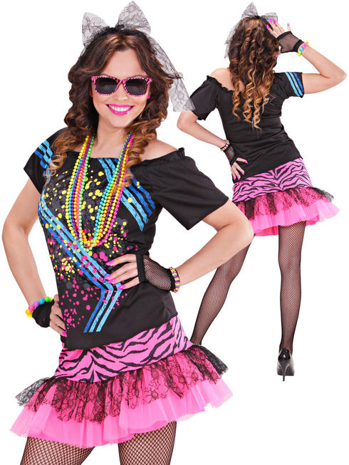 Ladies 80s Rock Girl Costume