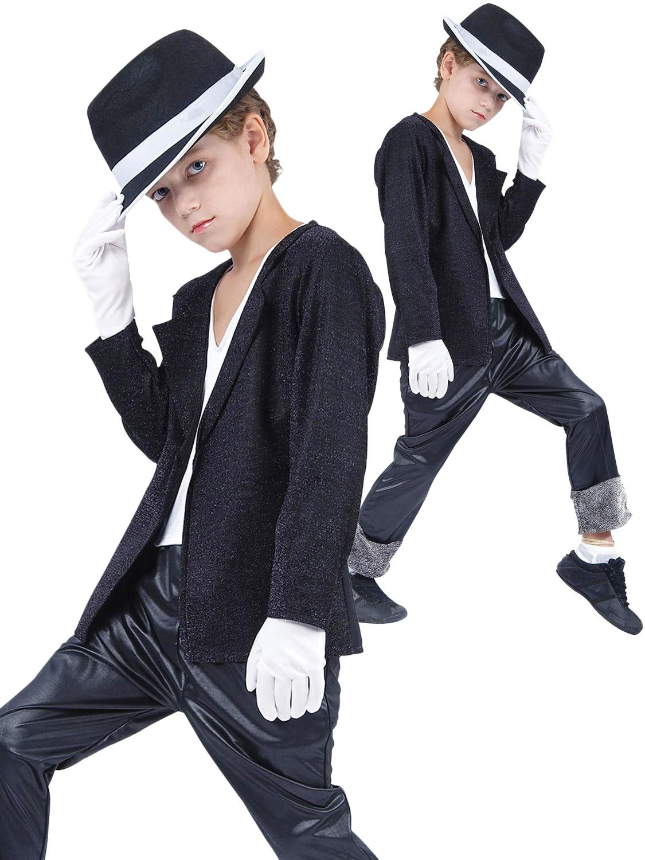 Military Jacket Black Michael Jackson Fancy Dress Halloween Baby Child Costume