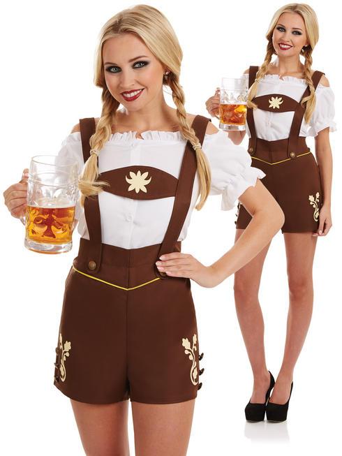 Ladies Bavarian Lederhosen Costume
