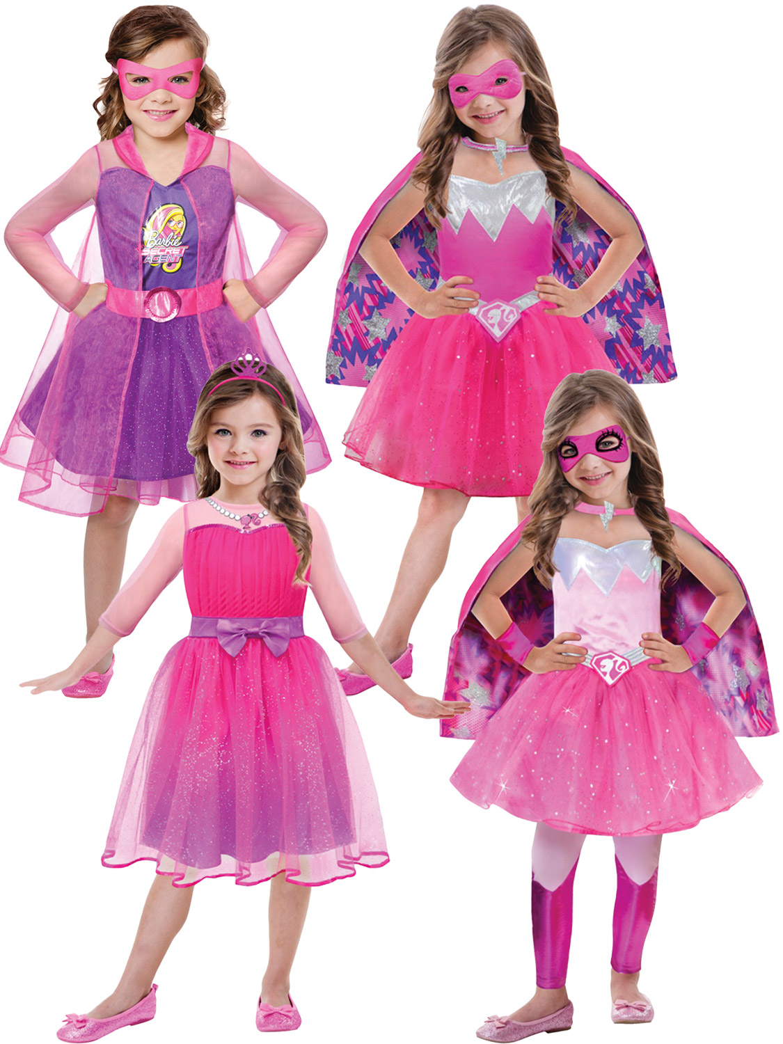 Image 2  sc 1 st  eBay & Childrens Barbie Princess Costume Girls Superhero Spy Fancy Dress ...