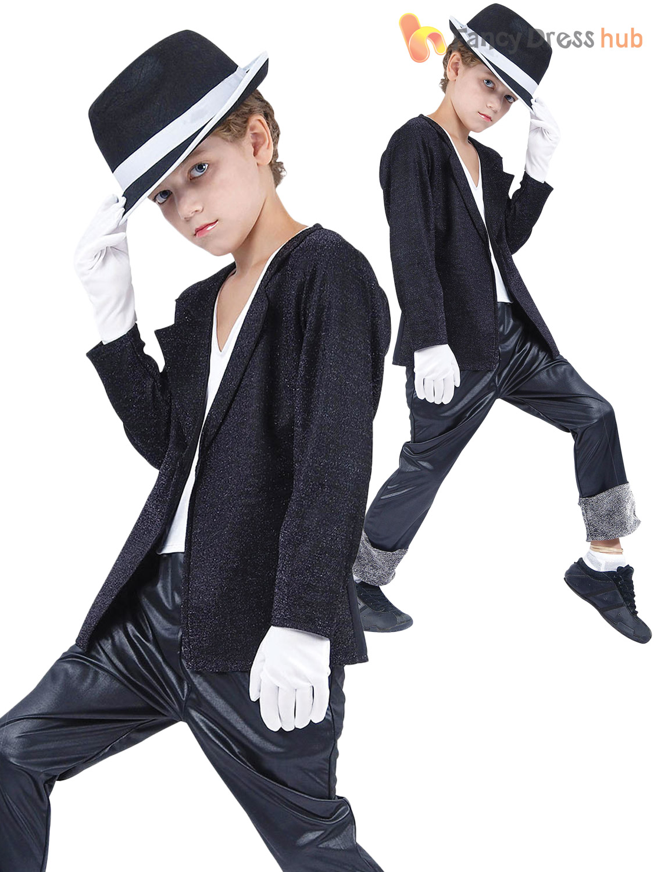 Childrens-80s-Superstar-Costume-Kids-Boys-Michael-Pop-  sc 1 st  eBay & Childrens 80s Superstar Costume Kids Boys Michael Pop Star Thriller ...