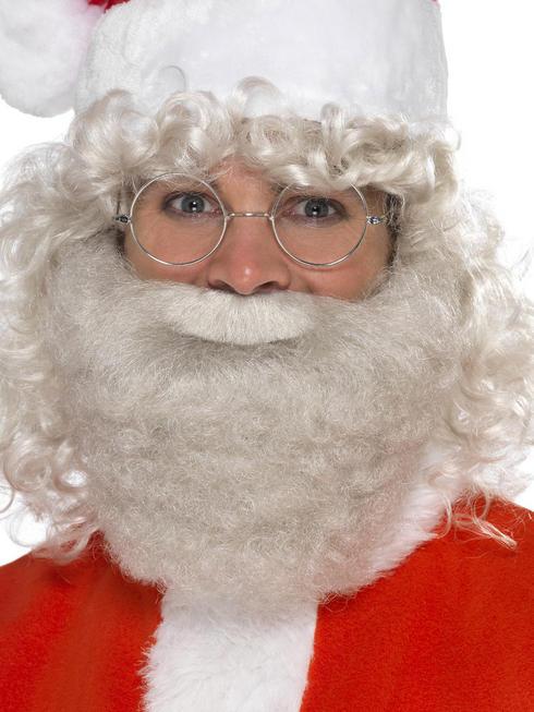 Adult's Santa Deluxe Pearl Beard