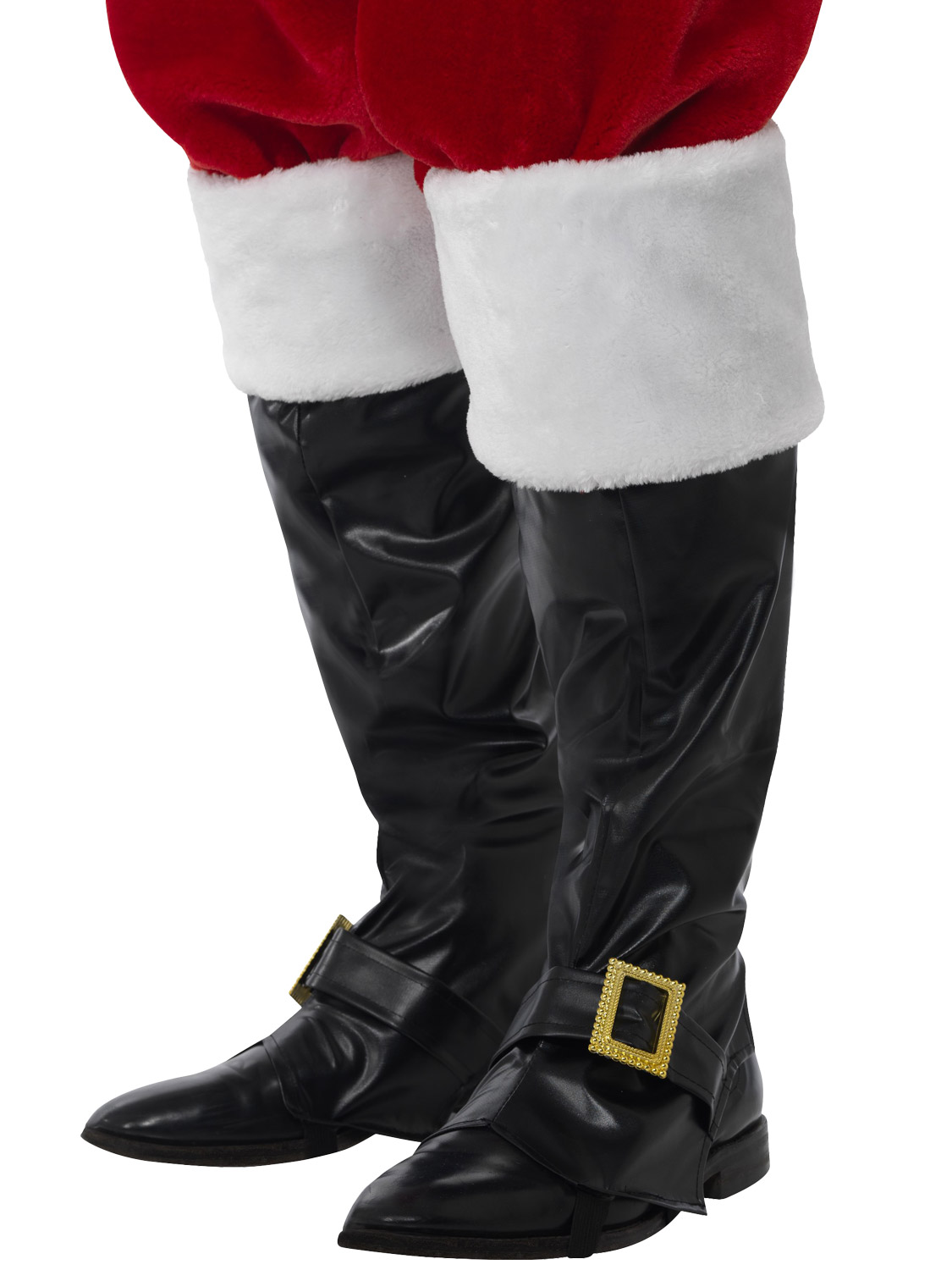 Adults deluxe santa claus boot covers mens father