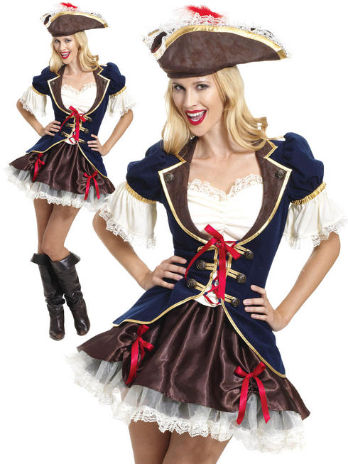Ladies Captain Buccaneer Costume