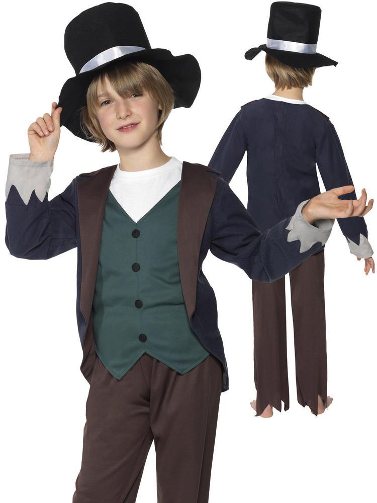 Boy's Poor Victorian Costume - All Children - Fancy Dress Hub
