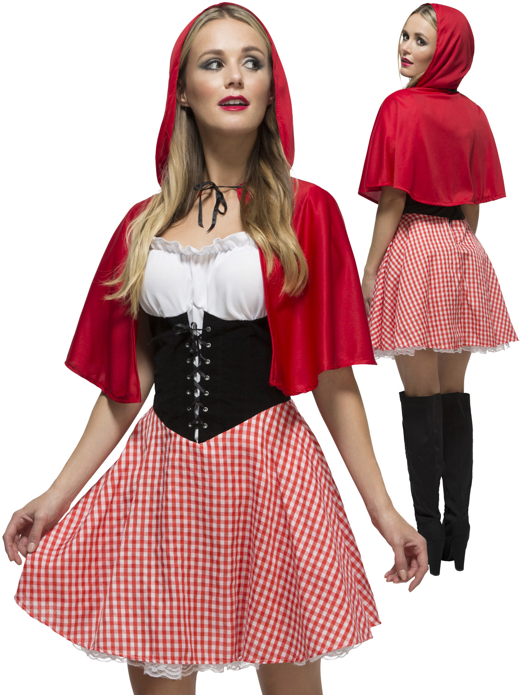 Ladies Fever Red Riding Hood Costume   All Ladies