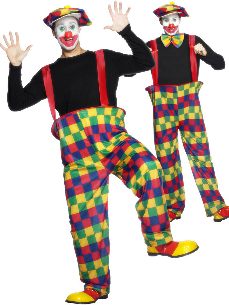 Adults Hooped Clown Costume