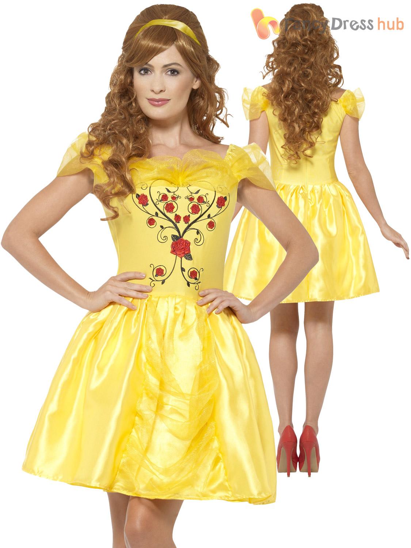 Ladies-Belle-Costume-Adults-Enchanting-Beauty-and-the-  sc 1 st  eBay & Ladies Belle Costume Adults Enchanting Beauty and the Beast Fancy ...