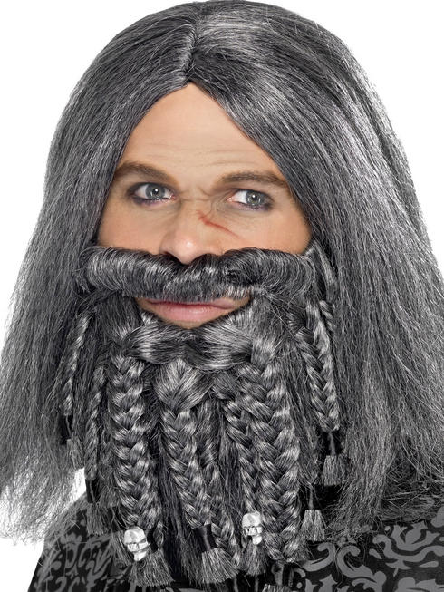 Terror Of The Sea Pirate Wig & Beard Set