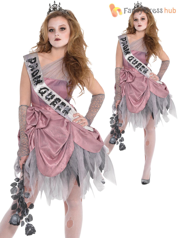 Details about Girls Zombie Prom Queen Ballerina Costume Teen Halloween  Fancy Dress Kids Outfit