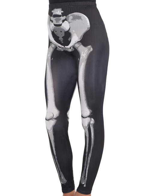 Girl's Black & Bone Leggings