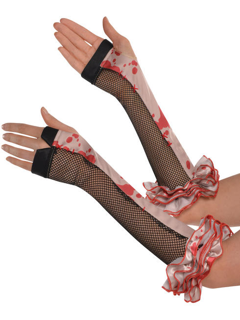Ladies Freakshow Clown Fingerless Gloves