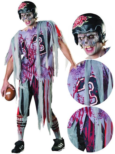 Men's End Zone Zombie Costume
