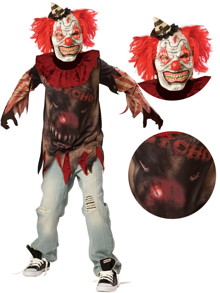 Boy's Teen Sideshow Clown Costume
