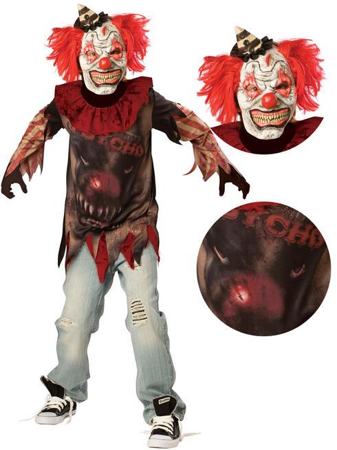 Boy's Teen Sideshow Clown Costume