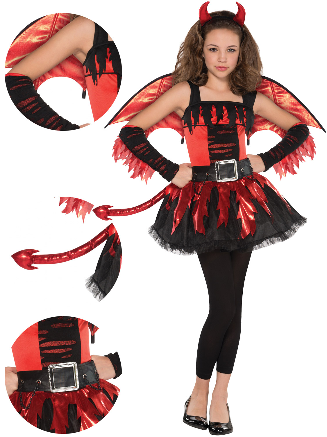 Halloween Costumes For Girls Age 11 12.Details About Teen Daredevil Costume Girls Red Devil Halloween Fancy Dress Costume Kids Outfit