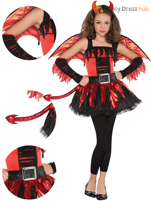 teen daredevil costume girls red devil halloween fancy