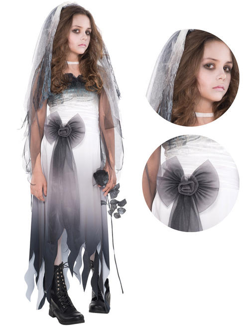 Girl's Teen Graveyard Bride Costume