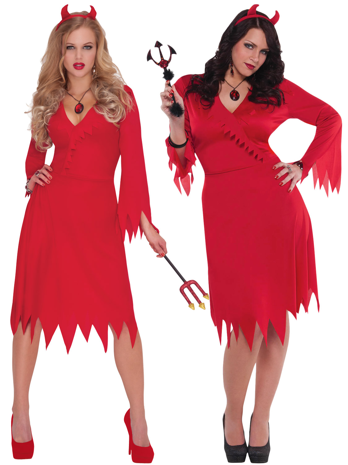 Ladies red hot devil costume adults halloween fancy dress womens transform yourself into a sexy devil with this ladies red hot devil costume ideal if you are dressing up for halloween solutioingenieria Images