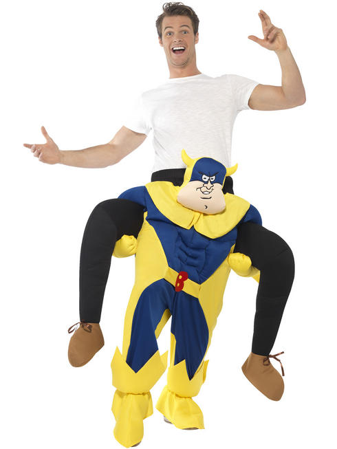 Adults Bananaman Piggy Back Costume