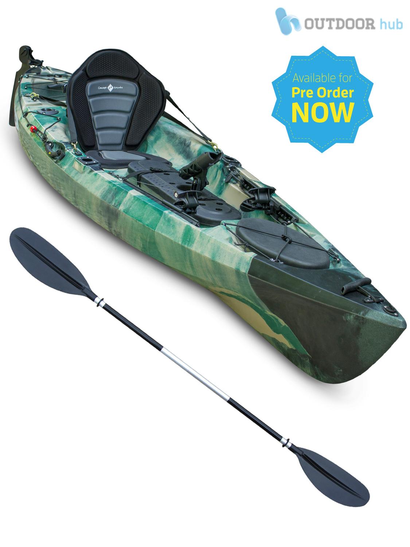 Sit on top kayak single fishing ocean canoe rod holders for Best fishing canoe