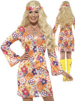 Ladies Flower Hippie Costume