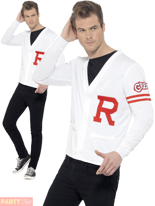 Mens-Rydell-Prep-Costume-Adults-1950s-Grease-Fancy-  sc 1 st  eBay & Mens Rydell Prep Costume Adults 1950s Grease Fancy Dress School Jock ...