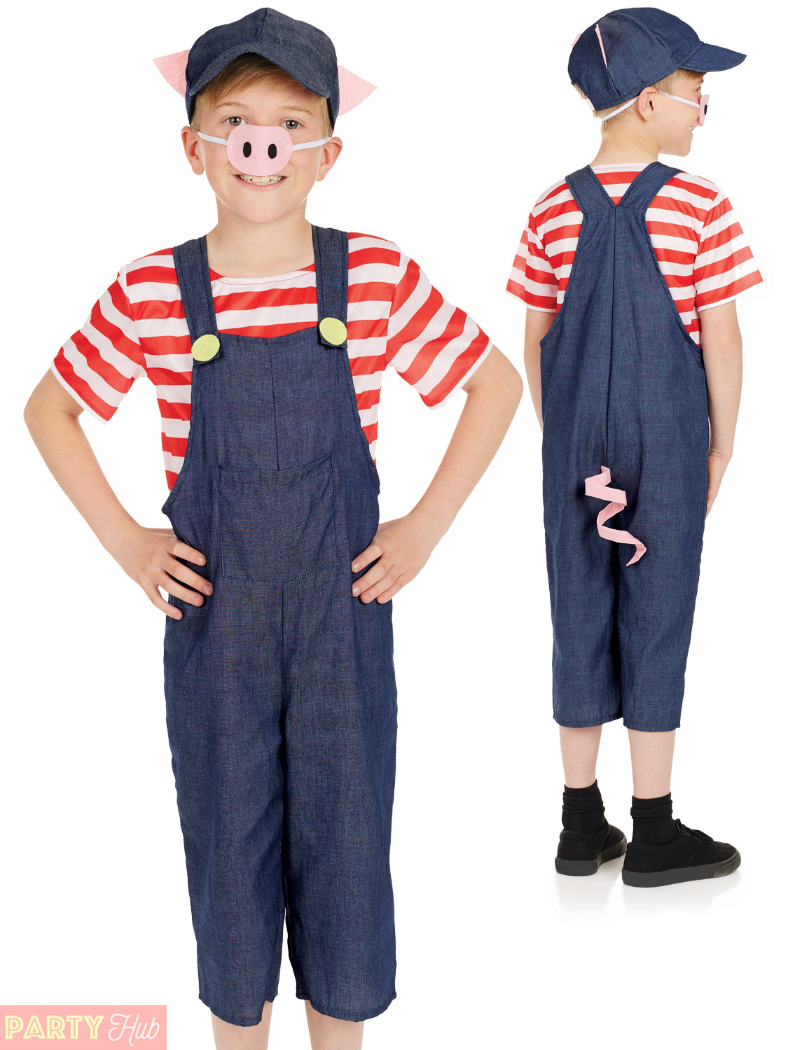 Child three little pigs costume boys girls pig fancy dress kids child three little pigs costume boys girls pig solutioingenieria Images