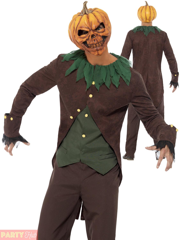 Mens Goosebumps Halloween Costume Dummy Scarecrow Pumpkin Clown ... c611d1b71a51