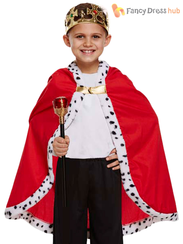 Childrens-King-Cape-Nativity-Play-Herod-Royal-Fancy-  sc 1 st  eBay & Childrens King Cape Nativity Play Herod Royal Fancy Dress Kids ...